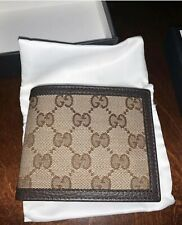 Gucci GG Guccisima Canvas Mens Wallet Brown RRP £255 Beige