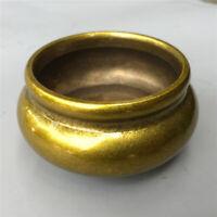 "3"" Chinese old antique bronze brass Three footed Incense Burner Censer"