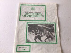 Scarce Vintage 1985 ECAC College Hockey Championship Program - Clarkson, RPI,Etc