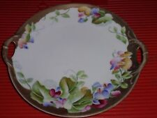 Antique Porcelain Plate Royal Bavaria 9.75 Inches Handled Charger