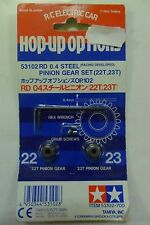 TAMIYA HOP-UP RD 0.4 SET PIGNONI STEEL PINION GEAR SET (22T 23T) ART 53102