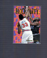 1995-96 Hoops Block Party NY Knicks #9 Patrick Ewing vs Shaquille Shaq O'Neal