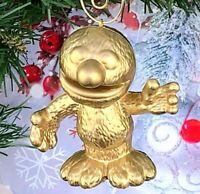 """VERY RARE GOLD Sesame Street Grover 2.75"""" Custom Made Christmas Tree Ornament"""