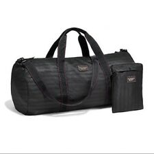 Victoria's Secret  Weekender Duffle Bag Packable Carry on Set Gym Black NWT