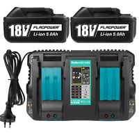 For Makita BL1850 18V Li-ion Battery & Charger DC18RC DC18RD BL1830 BL1860 Combo