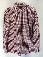 GANT Mens Vintage Cotton Shirt Plaid Check Pink Brown White - Size XL
