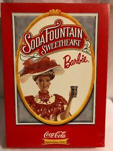 1996 Mattel Soda Fountain Sweetheart Coca-Cola Barbie Doll NRFB