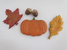 Pumpkin Acorn & Leaf Autumn Bowl Fillers 5pc set Fall harvest thanksgiving New