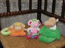 Lot of 3 Baby Toys Anna Club Holland Dog Rattle - Playgro Mouse - Belgium Hippo