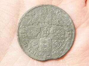 Victoria CONTEMPORARY FORGERY Pewter Gothic Florin  #J52