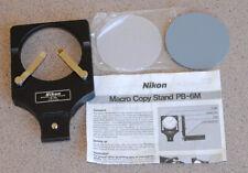 Nikon PB-6M Macro Copy Stand w manual + two specimen stage plates - EXC+ PB6M