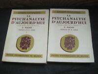 S. NACHT: la psychanalyse d'aujourd'hui. 2 volumes
