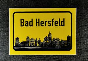 Aufkleber Ortschild Bad Hersfeld mit Skyline