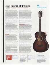 The Taylor 562E 12-Fret 12-String acoustic guitar 8 x 11 sound check review