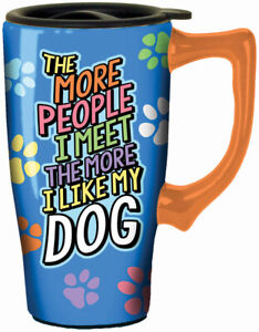 SPOONTIQUES 12632  THE MORE PEOPLE TRAVEL MUG