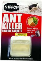2 x Nippon Ant Killer Soluble Sachet 25ml Kills Ants & Other Crawling Insects