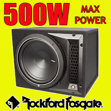"Rockford FOSGATE PUNCH 12"" pollici 500w CAR AUDIO SUBWOOFER SUB WOOFER BASS BOX NUOVO"