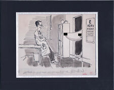 Original Gag Panel Comic Strip Art John Billette Cartoon Nude Humor Fling 70s