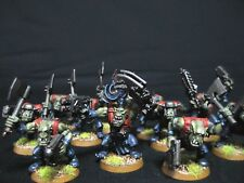 x11 Ork Slugga Boyz with Nob Painted Warhammer 40k Orks COMMISSION 32mm Bases