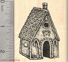 Gingerbread House Rubber Stamp, Christmas Confection, Fairy Tale J26303 WM