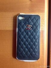 Cover iphone case i-phone i phone 4 4s nera logo brand trapuntata
