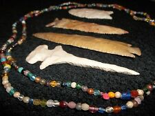 4 FOOT LONG STRAND OF GREAT OLD TRADE BEAD NECKLACE GLASS BEADS BEAUTIFUL COLORS