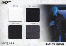 Bond Autographs & Relics - Quad Relic - SQC2 - Bond (Trousers/Jacket/Shirt/Jump)