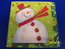 Polka Dot Christmas Frosty Snowman Winter Holiday Party Paper Luncheon Napkins
