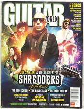 GUITAR WORLD MAGAZINE 30 GREATEST SHREDDERS JOE SATRIANI VAN HALEN HENDRIX RARE