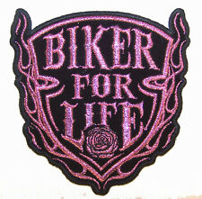 BIKER FOR LIFE EMBROIDERED PATCH P1010 jacket iron on sewn men women patches