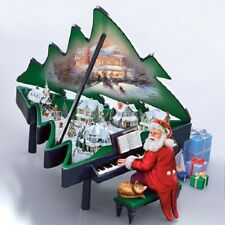 Santa s Grand Christmas Piano Figurine Decor Thomas Kinkade - Bradford Exchange