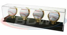BCW Supplies Deluxe Acrylic Four Quad Gold Glove Baseball Display New 1-AD13-4