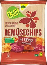 Kühne ENJOY Gemüsechips Chips mit Paprika verfeinert 75g 3er Pack