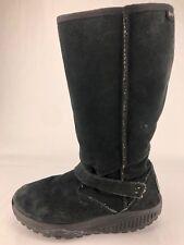 Skechers Shape Ups Boots Bollard Walking Toning Faux Fur Shoes Womens 8.5 Black