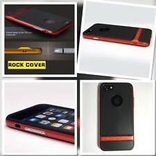 Original Rock Cover Apple iPhone 7 Case Hybrid Flex & Rigid TPU Tech Orange