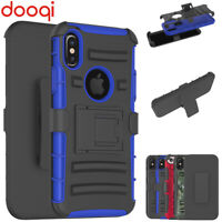 For iPhone X/ XS/ 6 Plus Hard Belt Clip Holster Kickstand Case+Screen Protector