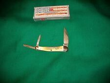 Case XX Knives  Damascus Barnboard Seahorse Whittler Knife- CA 02856 New