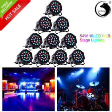 10PCS U`King 54W 18LED RGB DJ Stage Lighting 7CH DMX Disco Party  PAR Uplighting