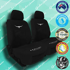NEW! RMW, RM WILLIAMS BLACK CANVAS CAR FRONT SEAT COVERS, HEAVY-DUTY, WATERPROOF