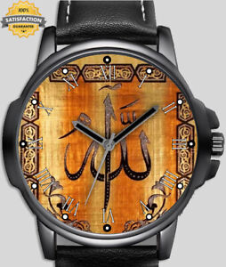 Religion Allah Arabic Calligraphy  Unique Unisex Beautiful Wrist Watch UK FAST