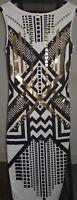 ASOS Black/Gold Pattern Bodycon Sleeveless Dress