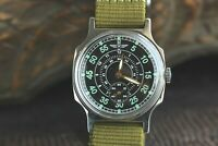 Pobeda Aviator Wrist Watch Pilot Shturmanskie LACO Green Mechanical USSR For Men