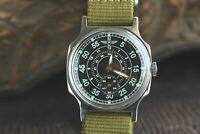 Pobeda Wrist Watch Shturmanskie  Green Mechanical USSR For Men