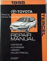 1995 Toyota Tercel Factory Service Manual Original Shop Repair Book
