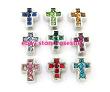 12pcs cross Floating charms DIY Glass living memory For Floating Lockets FC199