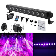 UV LED Bar w/ 9 LED 260W Black Light for Disco Remote Control Stage DJ Lighting