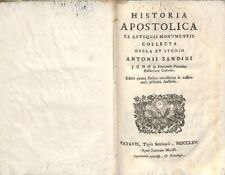 Historia apostolica - Antonius Sandinus - Apud Joannem Manfrè 6516
