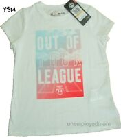 Under Armour Tee Athletic Top Youth Girls Sports Teens Short Sleeve Shirt Summer