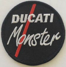 Ducati Monster embroidered cloth patch.   B040303