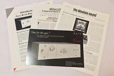 Ayre Acoustics K-1x Pre Amplifier Original Product Info Card, Manual & More